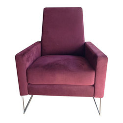 SOLD OUT!  DWR Flight Recliner in Cordovan Ultrasuede - $2,700 Est. Retail - $1, -