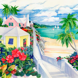 Murals Your Way - Island Cliffs Wall Art - Painted by Paul Brent, the Island Cliffs wall mural from Murals Your Way will add a distinctive touch to any room