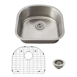Schon - Schon Premium 18 Gauge D-Shaped Undermount Utility Sink (SCSDB18) - Schon SCSDB18 Premium 18 Gauge D-Shaped Undermount Utility Sink, Stainless Steel