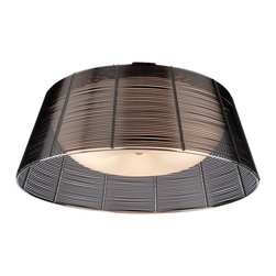 Artcraft Lighting - Artcraft Lighting AC314BK San Jose Modern / Contemporary Flush Mount Ceiling Lig - The San Jose collection features individually hand weaved black finished wiring, covering a white glass dome (Flush Mount Model)