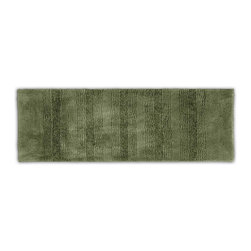 "Sands Rug - Westport Stripe Washable Runner Bath Rug (1'10"" x 5') - Classic and comfortable, the Westport Stripe bath collection adds instant luxury to your bathroom, shower room or spa. Machine-washable, always plush nylon holds up to wear, while the non-skid latex makes sure rugs stay in place."