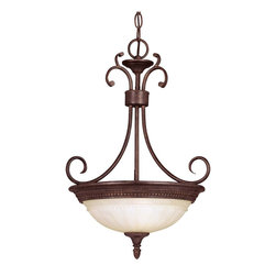 Savoy House - Savoy House Liberty Bowl Pendant Light in Walnut - Shown in picture: Designed by Karyl Pierce Paxton; Climb into your horse drawn carriage and go back in time with the Liberty collection. A dignified Colonial design with a rustic Walnut Patina finish almost makes this collection an amercian treasure.