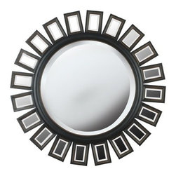 "Kenroy Home - Kenroy Home 60040 34"" Modern Wall Mirror Straus Collection - 34"" Modern Wall Mirror from the Straus CollectionKenroy Home offers the finest in decor, performance, and value.  Their chandeliers, ceiling lighting and indoor and outdoor wall lighting capture the essence of lighting technology, and combine it with styling points of view ranging from classical and traditional, to contemporary and casual.  Kenroy lamps and portable lighting utilize a wide variety of materials, and create artistic elements that complement your home furnishings as well as make their own statements.  Particular care is paid to hand applied polishing and painting, matched with the finest in glass and shade treatments.  Fountains are the latest Kenroy Home category entry, and are designed and crafted to blend with various interior and exterior decors. They add soothing movement and the gentle sounds of falling water to unique artistry created in real and simulated stone, metal and ceramics.Boldly scaled in size and design, this mirror will be the focal point of any room it graces."