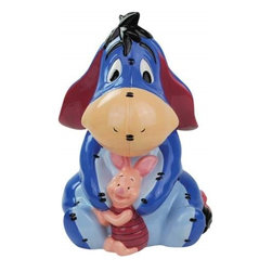 Westland - 11.5 Inch Piglet Cheering up Eeyore and Embracing Colorful Cookie Jar - This gorgeous 11.5 Inch Piglet Cheering up Eeyore and Embracing Colorful Cookie Jar has the finest details and highest quality you will find anywhere! 11.5 Inch Piglet Cheering up Eeyore and Embracing Colorful Cookie Jar is truly remarkable.