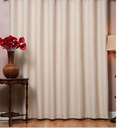None - Wide Width Thermal 80 x 84-inch Blackout Curtain Panel - Keep your room dark even when the sun is shining with these useful blackout curtain panels. These curtains come in your choice of six solid colors to match your decor,and the long length ensures that light won't come in underneath them.