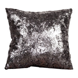 Howard Elliott - Silver Fox 16 x 16 Pillows - Change up color themes or add pop to a simple sofa or bedding display by piling up the pillows in a multitude of colors, textures and patterns. This Silver Fox pillow features a faux fur texture with metallic finish