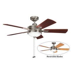 "Kichler - Kichler 300148AP Logan 52"" Indoor Ceiling Fan 5 Blades - Light Kit - Kichler 300148AP Logan Ceiling Fan"