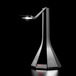 LaDiva - LED Reading Light & Music System w/ iPhone Dock | Rotaliana - Rotaliana Lighting LaDiva LED Task Light designed by Dante Donegani & Giovanni Lauda features a clock display, iPhone/iPod dock, USB port, audio in/out, FM radio, infrared remote control and available in 3 finishes.