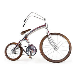 Decorative Bike Wall Decor - This Decorative Bike Wall Decor is an incredibly cute and quirky addition to your bohemian, rustic, or modern home. Constructed of wood and metal, it's a great piece -- just don't try to ride it away! Pair it with your favorite art prints for a DIY-take on a gallery wall.