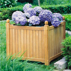 Oxford Garden English Square Planter - These beautiful English square planters are always in style. Fill them with your favorite blooms of the season.