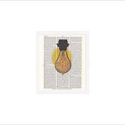"""Zlatka Paneva Framed Print, Light Bulb, No Mat, 11 x 13"""", White - A delightful meditation on an object we use daily, but often fail to really look at - an ordinary light bulb. Zlatka Paneva was drawn to the different shapes of light bulbs and, particularly, unusual filaments. 11"""" wide x 13"""" high 16"""" wide x 20"""" high 28"""" wide x 42"""" high Alder wood frame. Black- or white-painted finish; or espresso-stained finish. White beveled-cut, archival-quality, acid-free mat. Available with or without a mat. {{link path='/shop/accessories-decor/pb-artist-gallery/artist-gallery-zlatka-paneva/'}}Get to know Zlatka Paneva.{{/link}}"""