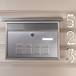 Deco Locking Wall-Mount Mailbox - Stainless Steel - This Stainless Steel Deco Wall-Mount Mailbox is perfect for any home's entrance. The deep interior box is large enough for all of your mail, and the lockable front access door ensures security.