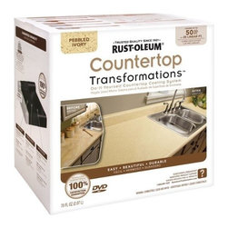 Rustoleum Brands - 258529 Ivory Countertop Kit - COUNTERTOP TRANSFORMATIONS(R) KIT  Simple, affordable & hassle-free way to -  transform worn or damaged countertop into-  beautiful, durable new counter surfaces  Coating system gives permanent look of -  natural stone products  Just sand, roll, spread, smooth, seal & enjoy  Complete kit of all items needed to transform -  countertops along w/DVD instructions & pamphlet    258529 IVORY COUNTERTOP KIT  COVERAGE:50 Sq. Ft.  Color: Pebbled Ivory