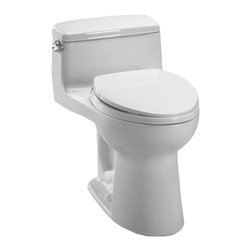 Toto - Toto MS864114#11 Colonial White Supreme Toilet, 1.6 GPF - Toto MS864114#11 Colonial White supreme Elongated One-Piece Toilet. Toto is the world's largest plumbing products manufacturer, they have been designing and innovating plumbing fixtures, accessories, showers, and for over 90 years. Each Collection and Product that Toto makes is unique in appearance and performance. This Toto MS864114#11 Colonial White supreme Elongated One-Piece Toilet features a high gloss enamel Vitreous China constructed body designed to minimize chipping and scratching. This Toilet also includes an upgraded elongated toilet bowl, and a powerful and quiet gravity Flush. This Toilet comes in Colonial White.