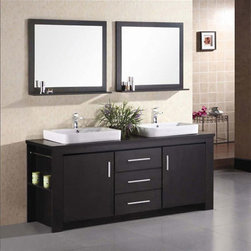 Double Sink Vanity Set - Design Element Washington Double Sink Vanity Set