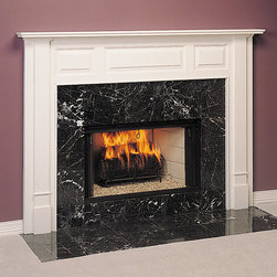 Stepford Wood Fireplace Mantel - Available in both standard and custom sizes, spruce up a dull hearth with the Stepford wood mantel. Shown in Poplar for Painting with White Paint, we also offer a number of other colors and finishes.