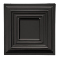 "Bistro Ceiling Tile - Black - Perfect for both commercial and residential applications, these tiles are made from thick .03"" vinyl plastic. Their lightweight yet durable construction make these tiles easy to install. Waterproof, these tiles are washable and won't stain due to humidity or mildew. A perfect choice for anyone wanting to add that designer touch at an amazing price."