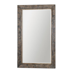 Uttermost - Bozeman Grande Floor Mirror - Try leaning this grand mirror against a console table in your dining room to reflect a chandelier for added brightness. Or hang two, side by side in your bedroom. They'll make the room seem bigger and also act as impromptu headboards.