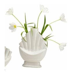 Tall Antique White Tulip Vase - *Tall Tangier Vase
