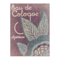Studio D&K - French Advertising Art in Purple, Mauve, and Mint Blue • 16x20 Canvas - Vintage Style French Advertising Art on Canvas