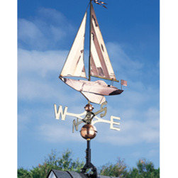 Whitehall Products LLC - Copper Sailboat Weathervane - Polished - Color: Polished