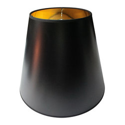 Home Concept - Black Parchment Gold-Lined Floor Lampshade - Home Concept Signature Shades feature the finest premium hardback parchment.