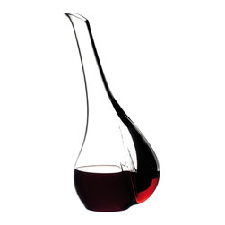 Riedel - Riedel Black Tie Touch Decanter - Handmade, mouth blown lead Crystal decanter.  Made in Austria.  Hand wash