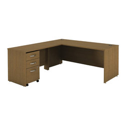 "BBF - Bush Series C 3-Piece Computer Desk in Warm Oak - Bush - Office Sets - WC67536PKG1 - Bush Series C 48""W Return Bridge in Warm Oak (included quantity: 1)"