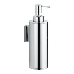 "WS Bath Collections - WS Bath Collections Upside Wall Mounted Chrome Soap Dispenser - Upside 3032, 2.4"" x 3.1"" x 7.9"", Soap Dispenser in Polished Chrome"