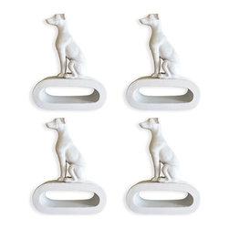 Naked Decor - Set of 4 Greyhound Napkin Rings - Set of 4