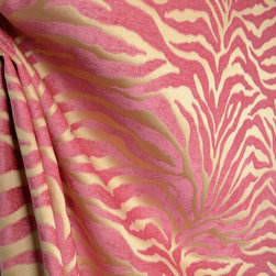 Serengeti Hot Pink Animal Print Chenille Upholstery Fabric By The Yard - Serengeti in the color Hot Pink is a chenille animal print upholstery fabric. It can be used for ottomans, chairs, couches, window treatments, bedding and pillows.