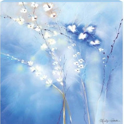 WL - Beyond Blue Theme Wall Art Painting with Wild White Orchids Design - This gorgeous Beyond Blue Theme Wall Art Painting with Wild White Orchids Design has the finest details and highest quality you will find anywhere! Beyond Blue Theme Wall Art Painting with Wild White Orchids Design is truly remarkable.
