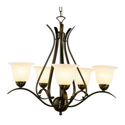 Trans Globe Lighting - Trans Globe Lighting PL-9285 ROB ES Ribbon Branched 5 Light Chandelier In Bronze - Simply elegant indoor lighting collection perfect for coastal dEcor themes with seagull wing chandelier supports. Matching pendant styles. Energy saving fixture uses GU-24 bulbs.