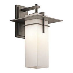 "Kichler - Kichler 49644OZ Caterham Collection 1 Light 18"" Outdoor Wall Light - Kichler 49644OZ Caterham Outdoor Wall Sconce"