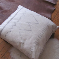 Eclectic  tea-dyed pillow