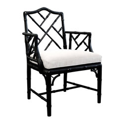 Jonathan Adler Chippendale Arm Chair, Black - I'm officially a fan of Chippendale chairs.