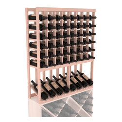 Wine Racks America - High Reveal Wine Rack Display in Redwood, White Wash Stain + Satin Finish - A highly decorative wine rack with all the elegance and functionality a wine enthusiast could want. Emphasize your favorite wine bottles with display rows and capture onlookers with dramatic lighting assemblies. The full beauty of this rack is maximized paired with any member from our wine rack family.