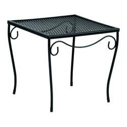 Woodard - Generic Medium Square End Table w Mesh Top (Hammered Pewter) - Finish: Hammered Pewter. Wrought Iron frame. 16 in. W x 16 in. D x 14.8 in. H (12 lbs.). All products are made to order. Orders cannot be cancelled after 5 calendar days. If order is cancelled after 5 calendar days, a 50% restocking fee will be applied.