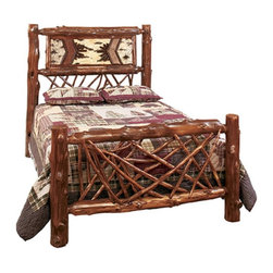 Fireside Lodge Furniture - Cedar Adirondack Twig Bed Multicolor - 10014 - Shop for Beds from Hayneedle.com! Organic rustic and designed to make a statement the Cedar Adirondack Twig Bed is a perfect choice for your lodge-inspired bedroom. This bed features a birch bark and twig headboard accented by an early American colored stain. The footboard has an artful tangle of twigs. Each bed is individually handcrafted from hand-peeled Northern White Cedar logs with a clear-coat lacquer to ensure lasting natural beauty. Size options available.Bed Dimensions:Twin: 87L x 45W x 65H in.Full / Double: 87L x 58W x 65H in.Queen: 92L x 64W x 65H in.King: 92L x 82W x 65H in.California King: 97L x 76W x 65H in.About Fireside LodgeFireside Lodge Furniture Company was founded in 1998 with the simple philosophy of offering high-quality rustic furnishings at fair prices. Thousands of homes and businesses across North America are accentuated with their furniture making them one of the leaders in the rustic furnishings industry. Even though the family-owned business has experienced dramatic growth over the past fourteen years their commitment to quality and value remains the same as when they built their first pieces of furniture. Allow their hand-craftsmen the opportunity to build for you not just a piece of furniture but an heirloom that you will pass down for generations.