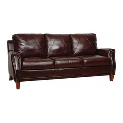 Luke Leather - Austin Sienna Italian Leather Living Room Set - Austin-SL - Set Includes Sofa, Loveseat