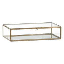 Clarus Small Brass Display Box - I have been uber-obsessed with these glass boxes lately. I don't know why, but I love their simple and clean look and the hint of luster the gold edging provides. They're a great way to safely display special items you want to see all the time.