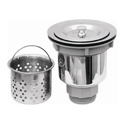 Whitehaus - Noah's Basket Strainer w Deep Removable Baske - Perfect for any standard kitchen sink. Made from stainless steel. 3.5 in. W x 3.5 in. H (3 lbs.). Warranty. Care Instructions