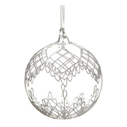 Silk Plants Direct - Silk Plants Direct Glittered Glass Ball Ornament (Pack of 6) - Pack of 6. Silk Plants Direct specializes in manufacturing, design and supply of the most life-like, premium quality artificial plants, trees, flowers, arrangements, topiaries and containers for home, office and commercial use. Our Glittered Glass Ball Ornament includes the following: