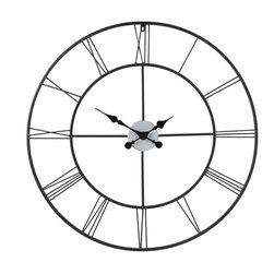 Holly & Martin - Lucas Decorative Wall Clock - Whether you add this classic oversized wall clock to your living room, den or home office, you will love the contrast of contemporary vintage that this piece offers. With a thin frame and perfectly placed roman numerals, this clock is not only functional, but stylish as well. This clock will add a simple elegance to your home that cannot be found elsewhere.