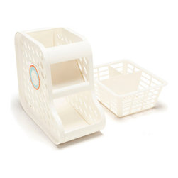 PRK Products, Inc. - PRK Universal Baby Bottle & Sippy Cup Organizer, Classic White - 1 piece with basket included