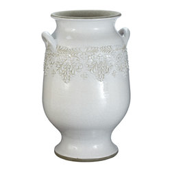 Lazy Susan - Milk Vineyard Urn, Large - -Handcrafted