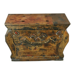 EuroLux Home - Consigned Antique Chinese Trunk Box Coffee Table - Product Details