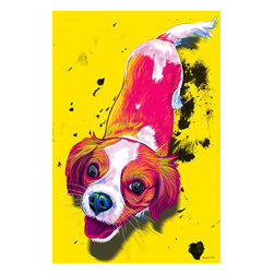"""Maxwell Dickson - Maxwell Dickson """"ZOE"""" Wall Art Canvas Print Pop Art Modern Artwork - We use museum grade archival canvas and ink that is resistant to fading and scratches. All artwork is designed and manufactured at our studio in Downtown, Los Angeles and comes stretched on 1.5 inch stretcher bars. Archival quality canvas print will last over 150 years without fading. Canvas reproduction comes in different sizes. Gallery-wrapped style: the entire print is wrapped around 1.5 inch thick wooden frame. We use the highest quality pine wood available."""