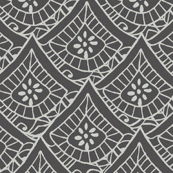 """Surya - Surya Henna HEN-1015 (Chocolate, Light Gray) 3'3"""" x 5'3"""" Rug - The Surya Henna Collection features hand tufted rugs made with 50% Wool/30% Viscose/20% Cotton."""