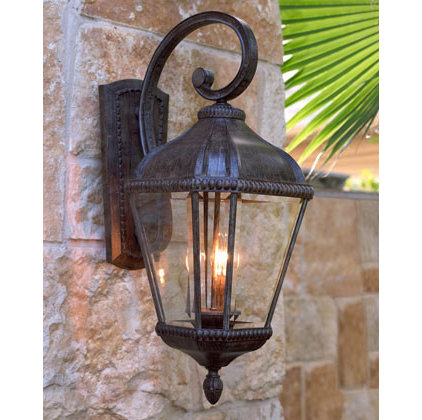 traditional outdoor lighting by Neiman Marcus